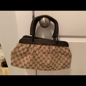 Authentic Gucci wood handle bag